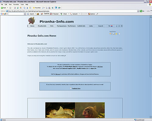 My site: September 2006 - February 2007